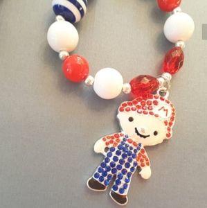NWOT Handmade Super Mario Chunky Necklace
